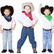 Three cowboys — Stock Photo #8324065