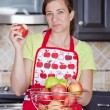 Woman eating apple — Stock Photo #8324068