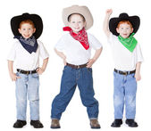 Three cowboys — Stock Photo
