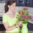 flower arranging — Stock Photo
