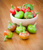Varm cherry peppers — Stockfoto
