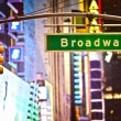 Broadway tecken — Stockfoto