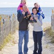 Family at beach — Stock Photo #8363602