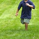 Running boy — Stock Photo