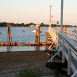 Sunset harbor — Stock Photo