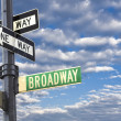 Broadway sign in Manhattan New York — Stock Photo