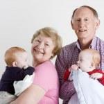 Happy grandparents — Stock Photo #8405279