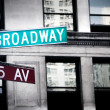 Grungy broadway sign — Stock Photo #8405432