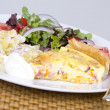 Quiche and salad — Stock Photo #8405461