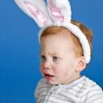 Bunny ears baby — Stock Photo