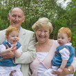 Stock Photo: Grandparents with grandsons