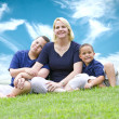 Mother and sons — Stockfoto