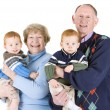 Stock Photo: Grandparents and grandsons