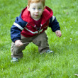 Baby boy outside - Stock Photo