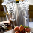Champagne and chocolates — Stock Photo #8407763