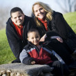 Mother with boys — Stock Photo