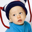 Baby in ski hat — Stock Photo