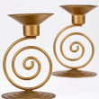 Two candle holders - Stock Photo
