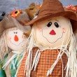 Cute scarecrow - Stock Photo