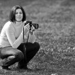 Pretty photographer - Stock Photo