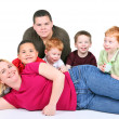 Woman with five children — Stock Photo #8408673