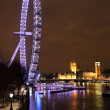 Millennium wheel in London - Stock Photo