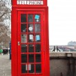 Stock Photo: Red Telephone Box London