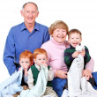 Happy grandparents — Stock Photo
