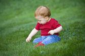 漂亮的小男孩 — 图库照片