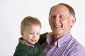 Grandad with grandson — Stock Photo
