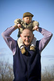 Happy grandfather — Foto Stock