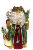 Traditional father christmas doll — Stock Photo