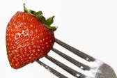 Strawberry fork — Stock Photo