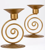 Two candle holders — Stock Photo