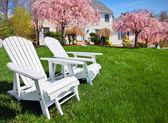 Adirondack chairs — Stock Photo