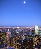 Moon over Manhattan — Stock Photo