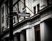 Broadway sign — Stock Photo