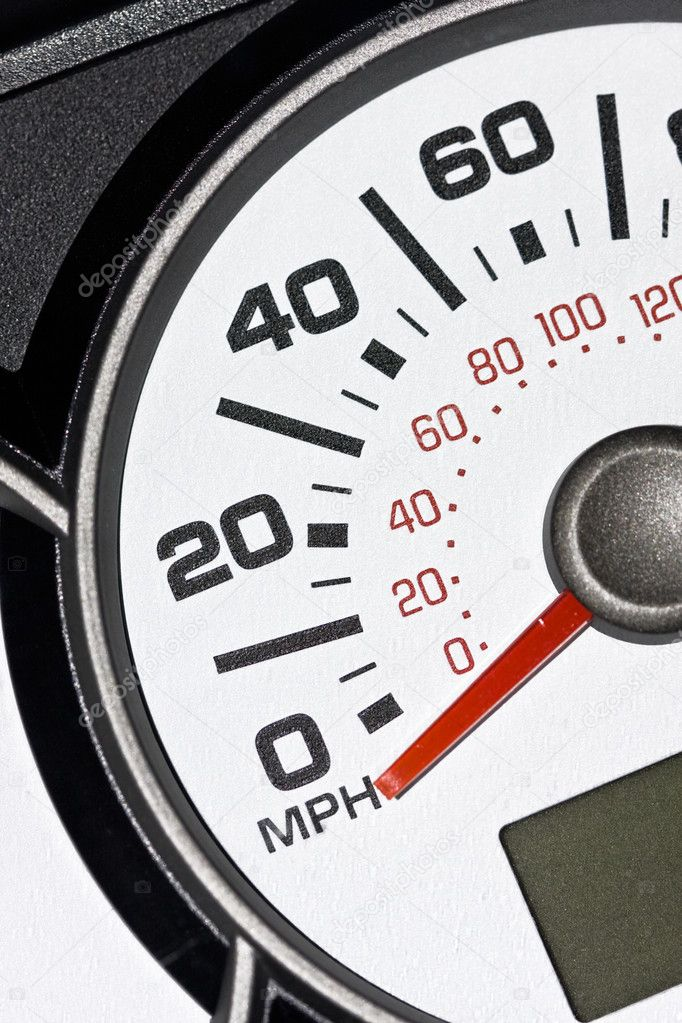 An automobile odometer close up — Stock Photo #8407483