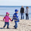 Family at beach — Stock Photo #8420975