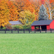 Stables in fall — Stock Photo