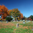Fall graveyard — Stock Photo