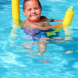 Boy in pool — Stock Photo #8421635