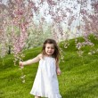 Girl in spring — Stock Photo