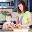 Baking cookies — Stockfoto