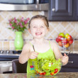 Royalty-Free Stock Photo: Girl making salad