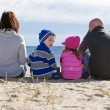 Stock Photo: Family at beach
