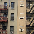 Fire escapes - Stock Photo
