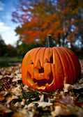 Creepy pumpkin — Stock Photo