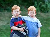 Twins outside — Stock Photo
