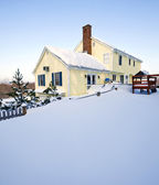 Snowy House — Stock Photo